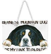 Bernese Mountain Dog Paradise Weekender Tote Bag