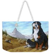 Bernese Mountain Dog Weekender Tote Bag