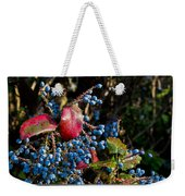 Berries And Red Leaves After The Rain Weekender Tote Bag
