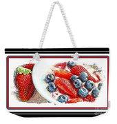 Berries And Yogurt Illustration - Food - Kitchen Weekender Tote Bag