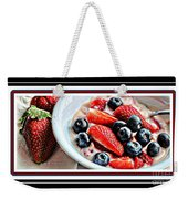 Berries And Yogurt Intense - Food - Kitchen Weekender Tote Bag
