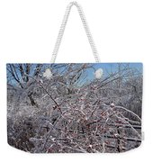 Berries In Ice Weekender Tote Bag