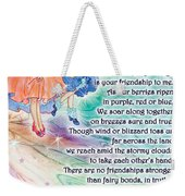Berry Fairy Friends Poem Weekender Tote Bag