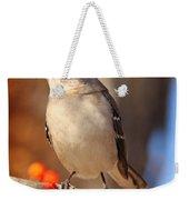 Berry Happy Mockingbird Weekender Tote Bag