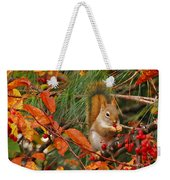 Berry Loving Squirrel Weekender Tote Bag