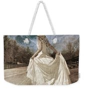 Beside Myself The Moon Weekender Tote Bag by Betsy Knapp