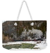 Beside The Animas River Weekender Tote Bag
