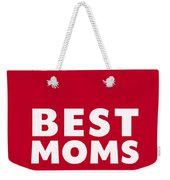 Best Moms Card- Red- Two Moms Mother's Day Card Weekender Tote Bag