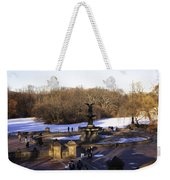 Bethesda Fountain 2013 - Central Park - Nyc Weekender Tote Bag by Madeline Ellis