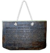 Bethesda Fountain And Terrace Weekender Tote Bag