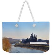 Bethlehem Steel And The Lehigh River Weekender Tote Bag