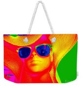 Betsy In Blue Sunglasses Weekender Tote Bag