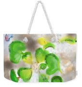Betta Fish Blowing Bubbles Weekender Tote Bag by Lois Ivancin Tavaf