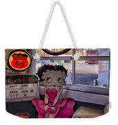 Betty Boop At Albuquerque's 66 Diner Weekender Tote Bag
