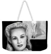 Betty Grable Weekender Tote Bag by Peter Piatt