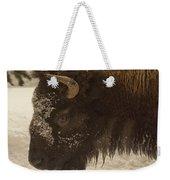 Beware Of The Bison Weekender Tote Bag