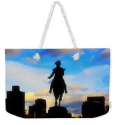 George Washington Statue - Boston Weekender Tote Bag by Joann Vitali