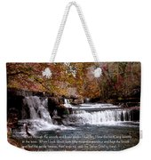 Bible Verse And Inspirational Greeting Card Autumn Fine Art Photography Prints And Posters. Weekender Tote Bag