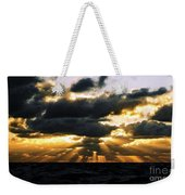 Crepuscular Biblical Rays At Dusk In The Gulf Of Mexico Weekender Tote Bag