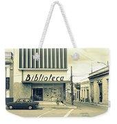Biblioteca Cubana Weekender Tote Bag