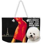 Bichon Frise Art - Una Parigina Movie Poster Weekender Tote Bag