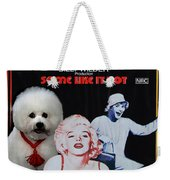 Bichon Frise Art- Some Like It Hot Movie Poster Weekender Tote Bag