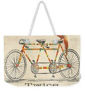 Bicycle For 2 Weekender Tote Bag