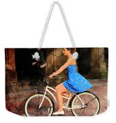 Bicycle Girl 1c Weekender Tote Bag