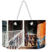 Bicycle On Porch Weekender Tote Bag