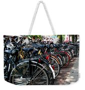 Bicycle Parking Lot Weekender Tote Bag