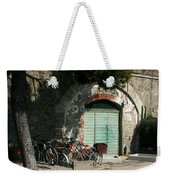 Bicycle Stop Weekender Tote Bag