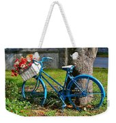 Bicycle With Basket Of Flowers Weekender Tote Bag