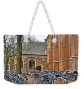 Bicycling To Church Weekender Tote Bag