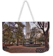 Bienville Spring With Benches Weekender Tote Bag