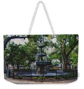 Bienville Square Fountain Closeup Weekender Tote Bag