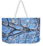 Bifurcations In White And Blue Weekender Tote Bag