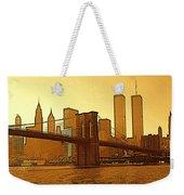 New York City - Big Apple Sunrise Weekender Tote Bag