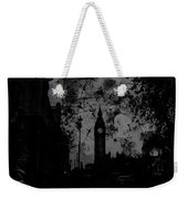 Big Ben Street Black And White Weekender Tote Bag