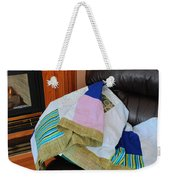 Big Blocks Patchwork Quilt Weekender Tote Bag
