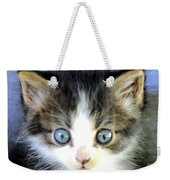Big Blue Eyes Weekender Tote Bag