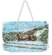 Big Cat - Sometimes They Fall - Winter - Snow - Slippery Slope  Weekender Tote Bag