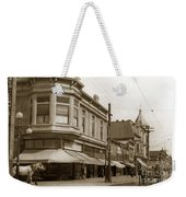 Big Curio Store Santa Cruz At 28 Pacific Avenue On The Corner Of Lincoln And Pacific. 1908 Weekender Tote Bag