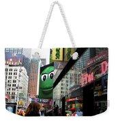 Big Green M And M Weekender Tote Bag