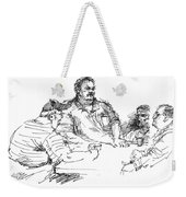 Big Guys And A Little Guy Weekender Tote Bag