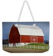 Big Red Barn In West Michigan Weekender Tote Bag