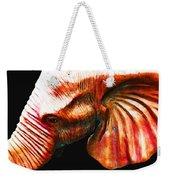 Big Red - Elephant Art Painting Weekender Tote Bag by Sharon Cummings