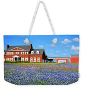 Big Red House On Bluebonnet Hill Weekender Tote Bag