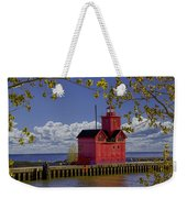 Big Red Lighthouse By Holland Michigan No.0255 Weekender Tote Bag