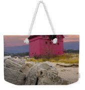 Big Red Lighthouse By Holland Michigan Weekender Tote Bag