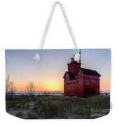 Big Red Lighthouse Weekender Tote Bag